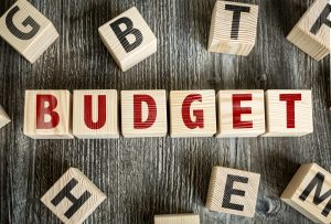 budget spelled out in blocks